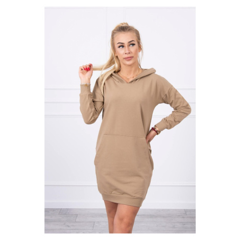 Mikinové šaty camel Kesi