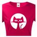 Dámské tričko s kočkou - stylový dárek pro milovníky koček