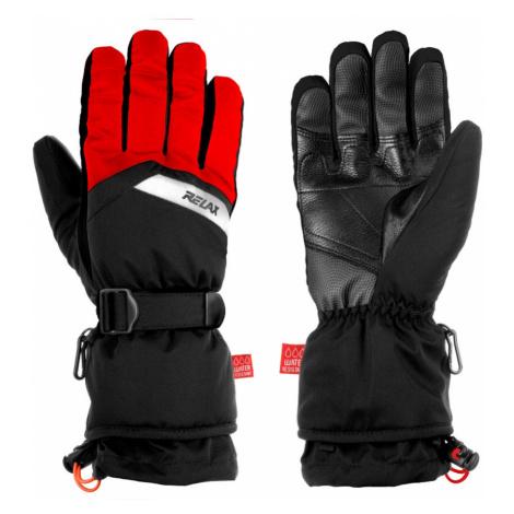 RELAX FRONTIER Lyžařské rukavice RR20B černá/červená