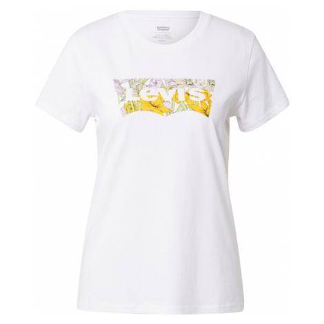 LEVI'S Tričko bílá / žlutá / světle fialová / béžová Levi´s