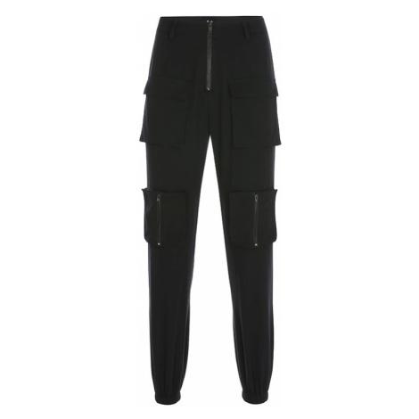 Dámské cargo kalhoty s vysokým pasem FashionEU