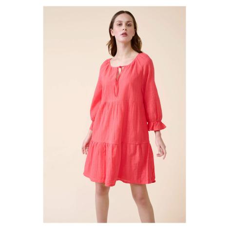 Bavlněné babydoll šaty Orsay