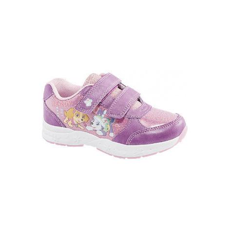 Růžovo-fialové tenisky na suchý zip Tlapková patrola