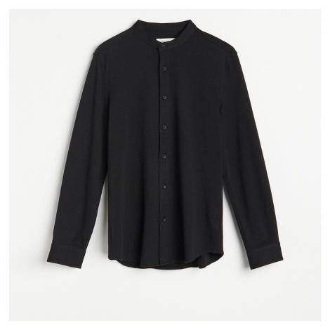 Reserved - Košile slim fit se stojáčkem - Černý