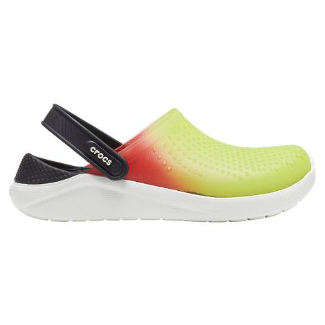 Crocs LiteRide Color Dip Clog Lime Punch/Scarlet/Almost White