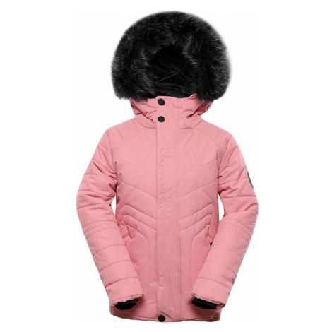 ALPINE PRO ICYBO 4 Dětská zimní bunda KJCS180455 pink icing