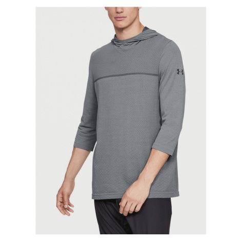 Tričko Under Armour Vanish Seamless 3/4 Sleeve Hoodie Šedá
