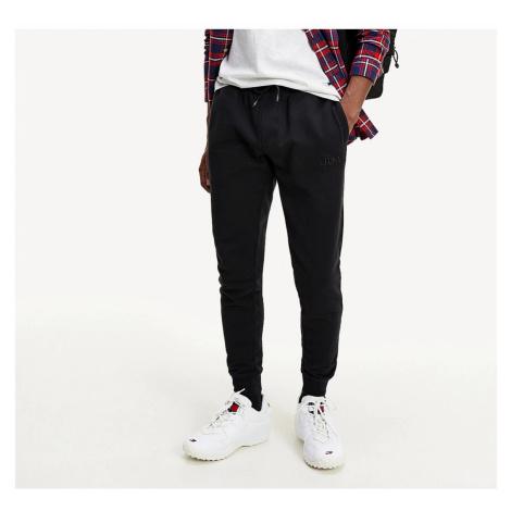 Tommy Hilfiger Tommy Jeans pánské černé tepláky SLIM SWEATPANTS