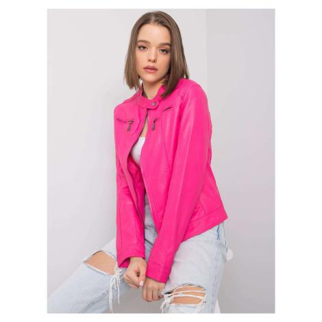 Růžová bunda z umělé kůže FPrice