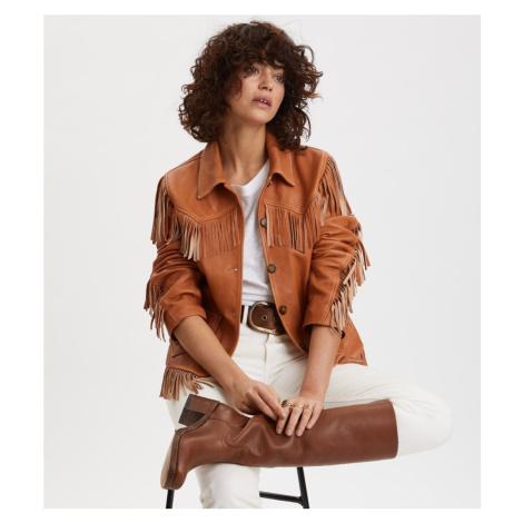 Bunda Odd Molly The One Leather Jacket - Hnědá