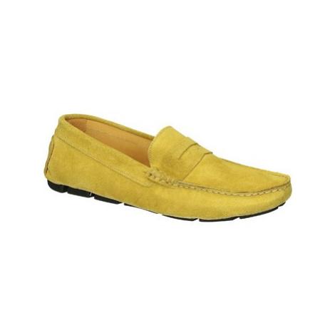 Leonardo Shoes 503 CAMOSCIO GIALLO TASSELLI Žlutá