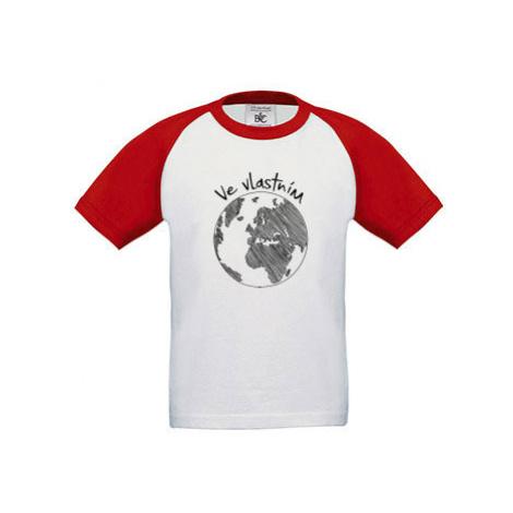 Dětské tričko baseball Ve vlastním