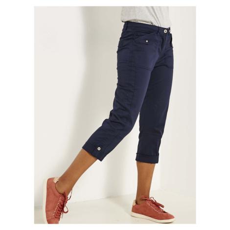 CAMAIEU modré tříčtvrteční kalhoty Camaïeu
