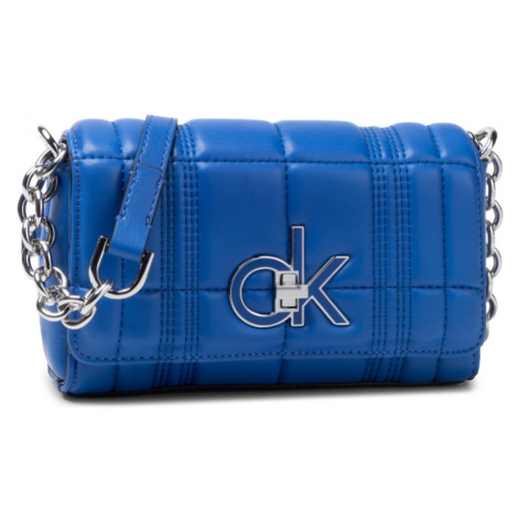 Calvin Klein dámská malá modrá kabelka Flap