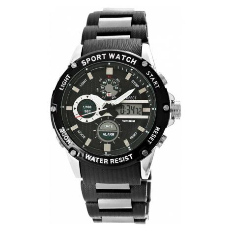 Pánské hodinky Perfect A8031-1 Dual Time Fluorescence