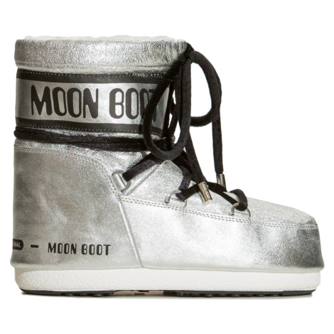 Boty Moon Boot MARS SAFFIANO stříbrná
