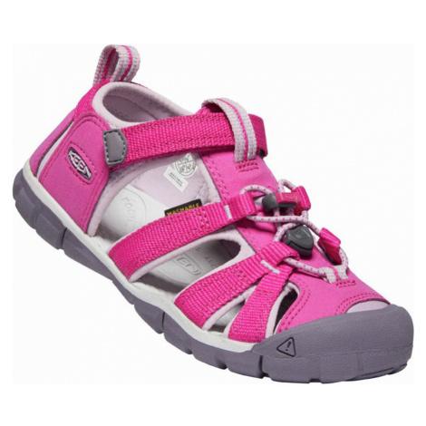 KEEN SEACAMP II CNX JR. Dětské sandály 10012375KEN01 very berry/dawn pink