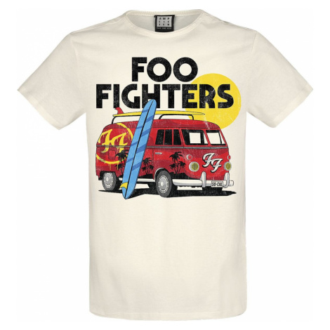 Foo Fighters Amplified Collection - Camper Van Tričko šedobílá