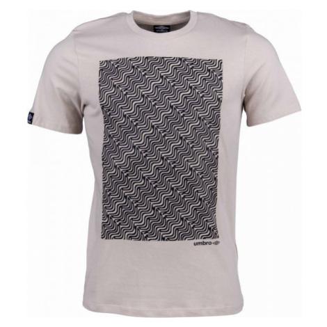 Umbro WARPED BRANDED TEE béžová - Pánské triko