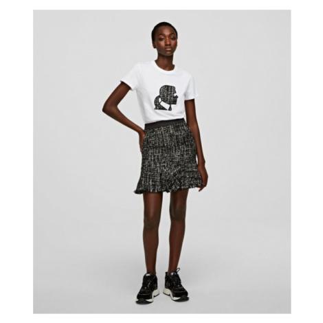Sukně Karl Lagerfeld Sparkle Boucle Skirt - Černá