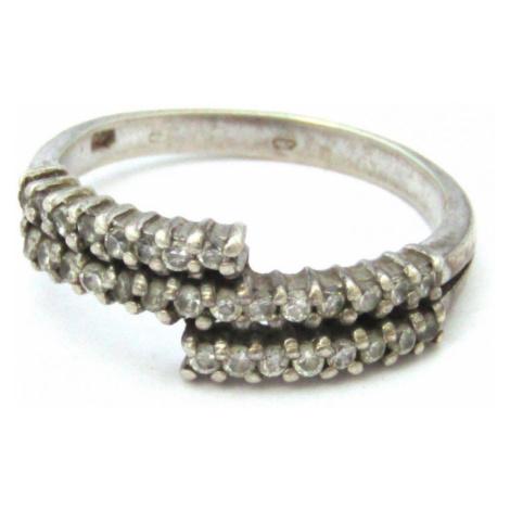 AutorskeSperky.com - Stříbrný prsten s bílými topazy -  S1420