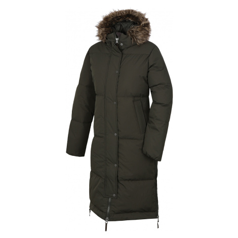 Husky Downbag L, tm. khaki Dámský péřový kabát