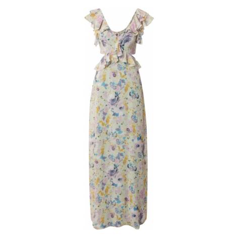 Trendyol Společenské šaty 'Smart Dress' béžová / fialová / hořčicová / světlemodrá