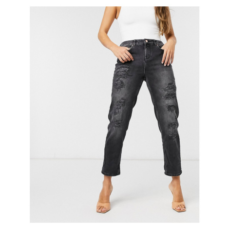 Ted Baker Hettey studded boyfriend jeans in black