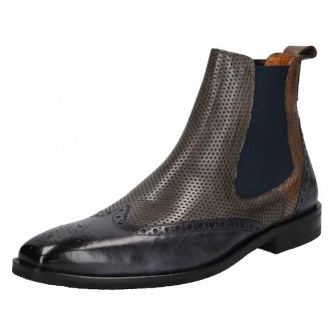 MELVIN & HAMILTON Chelsea boty šedá / modrá