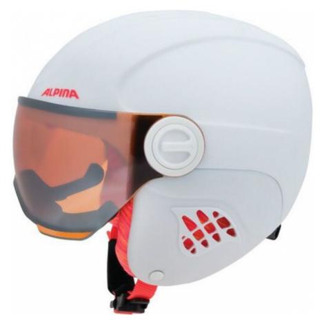 Alpina Sports CARAT LE VISOR HM bílá - Juniorská lyžařská helma