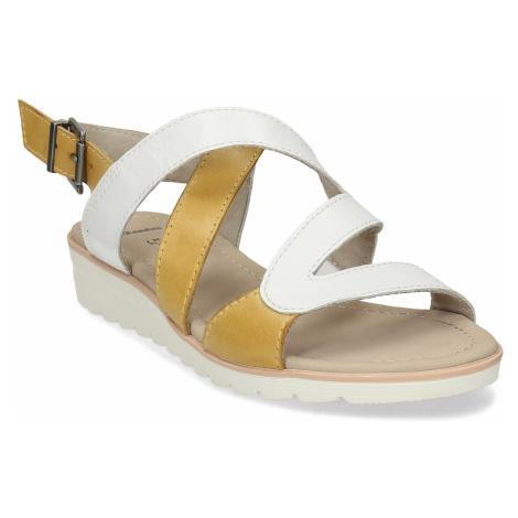 Dámské kožené sandály s asymetrickými pásky Baťa