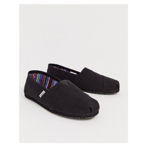 Toms classic espadrilles in double black