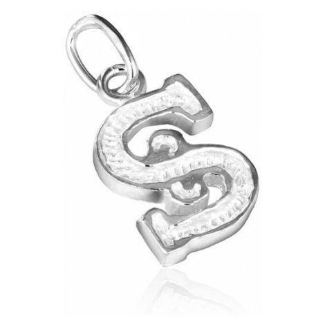Stříbrný přívěsek 925 - písmeno S s vroubkováním Šperky eshop