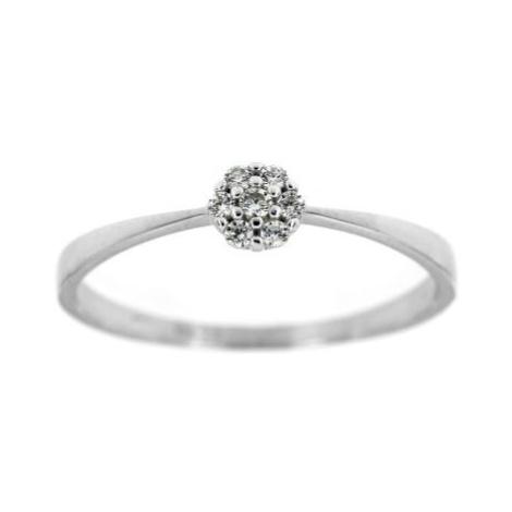 Dámský zlatý prsten kytička 4391b