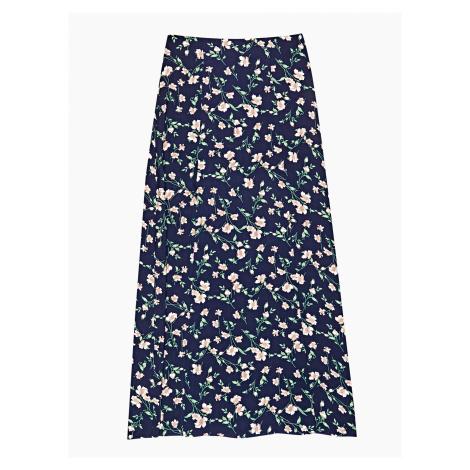 GATE Dlouhá sukně s květinovým potiskem