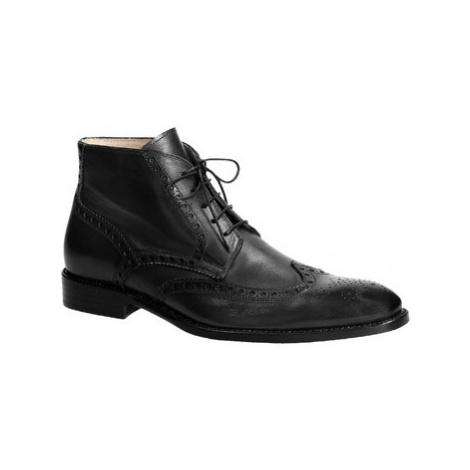 Leonardo Shoes PINA 107 VITELLO NERO Černá