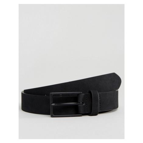 ASOS DESIGN slim belt in black faux suede