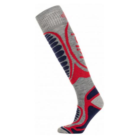 KILPI Lyžařské ponožky - merino ANXO-U LU0004KIWHT Bílá