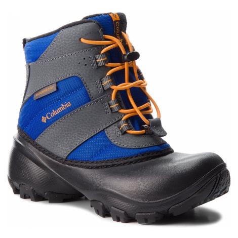 Sněhule COLUMBIA - Childrens Rope Tow III Waterproof BC1322 Azul/Orange Blast 437