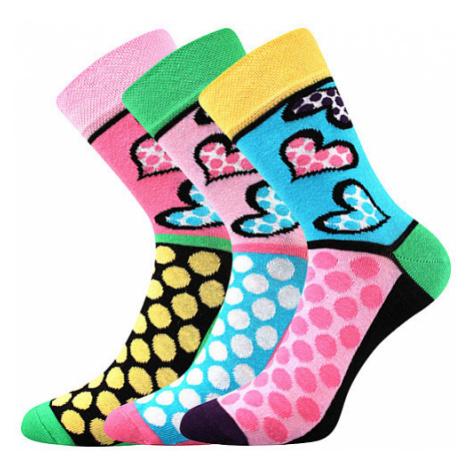 3PACK ponožky BOMA vícebarevné (Ivana 55) S