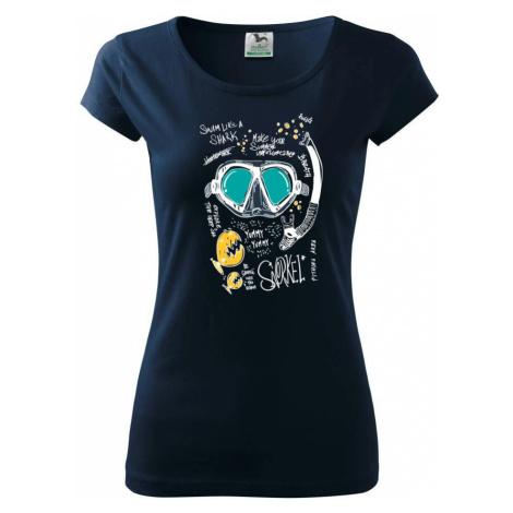 Potapěčské brýle text - Pure dámské triko