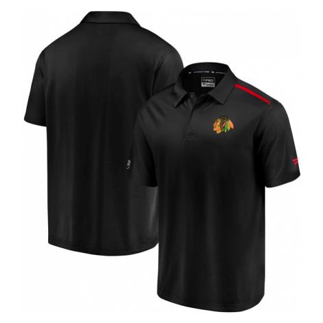 Pánské tričko Fanatics Rinkside Synthetic Polo NHL Chicago Blackhawks
