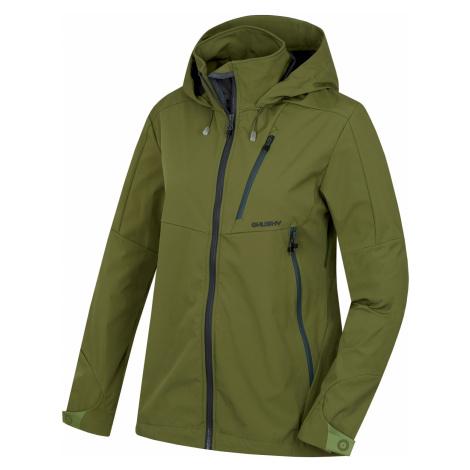 Husky Sauri L, tm. olivová Dámská softshellová bunda
