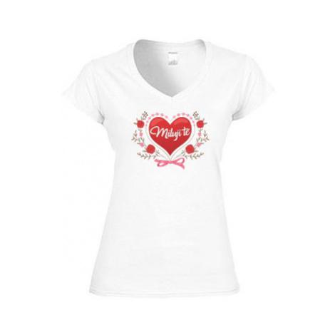 Dámské tričko V-výstřih Miluji tě