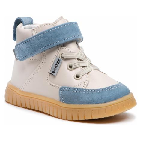 Kotníková obuv BARTEK - 11544002-LA5S Beż-Niebieski