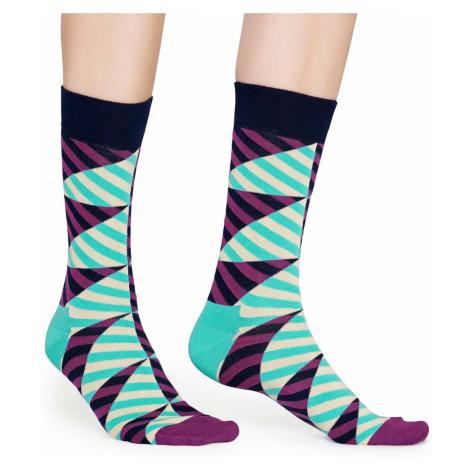 Barevné pruhované ponožky Diagonal Stripe – 41 - 46 Happy Socks