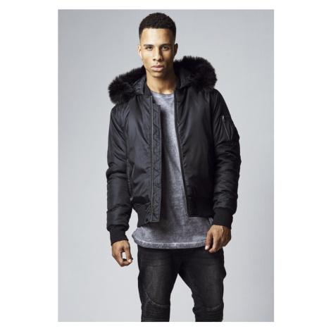 Hooded Basic Bomber Jacket - black Urban Classics