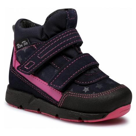 Kotníková obuv RENBUT - 13-1552 Granat