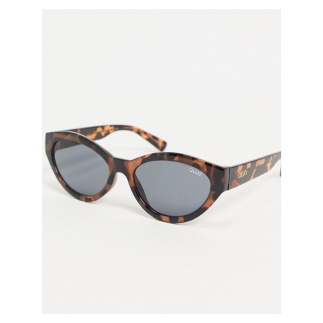 Quay Australia Totally Buggin cat eye sunglasses in tort-Brown