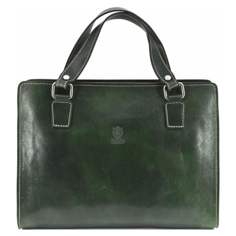 Dámská kožená kabelka/aktovka Arteddy - zelená